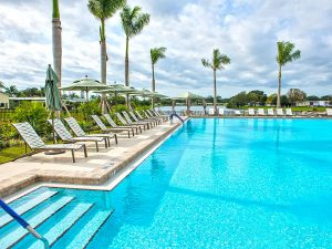 The relaxing pool at Colony Cove Senior Community
