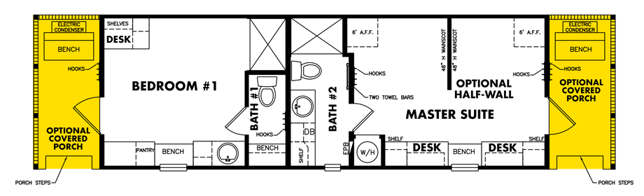 Floor plan, Tiny Home Model