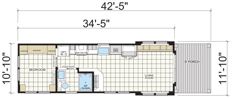 Floor plan Athens Park Model
