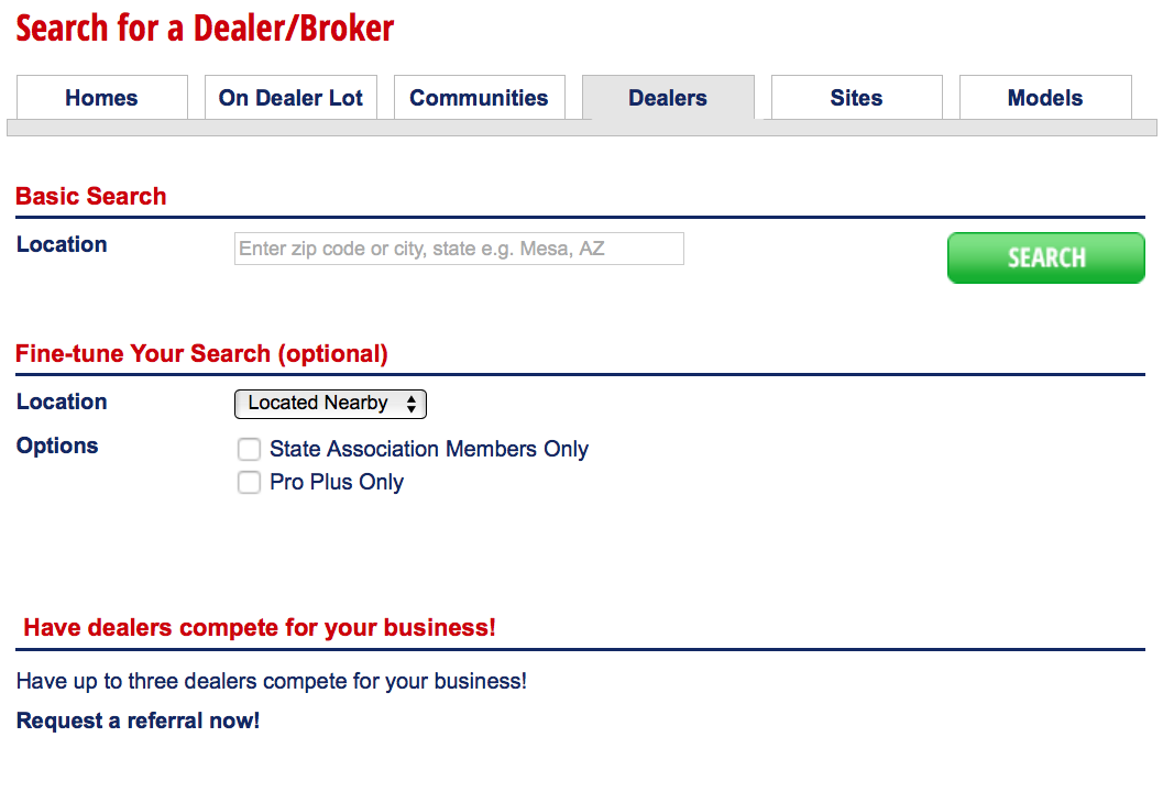 Search tool on MHV to help you find a Professional Seller