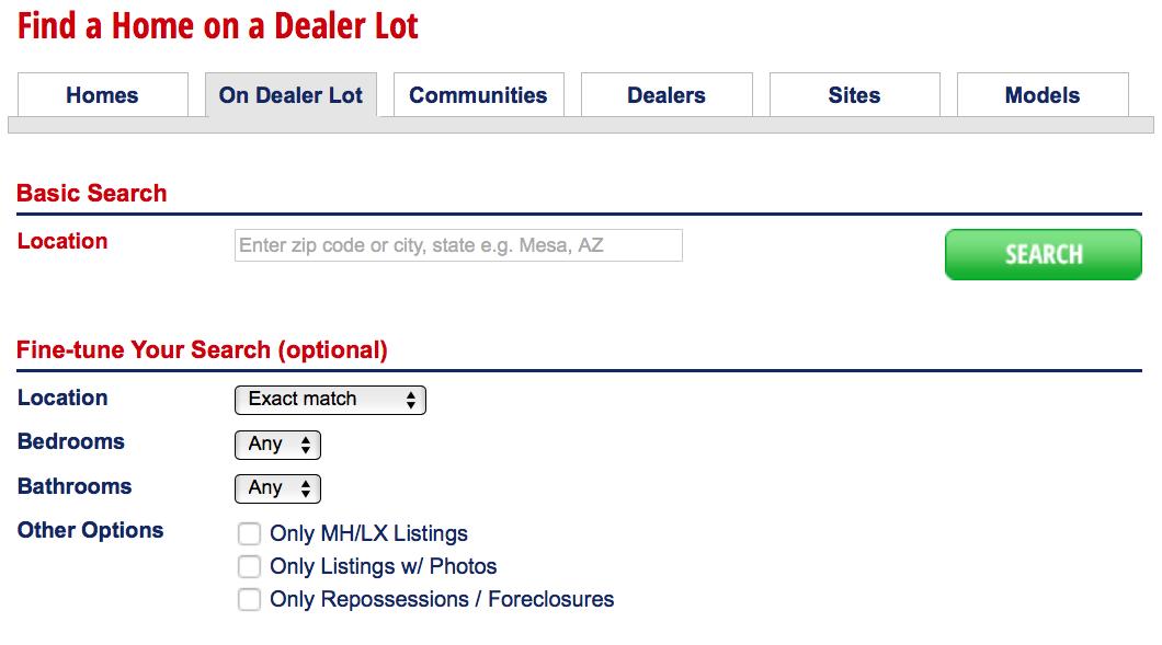 New Manufactured Homes - On Dealer Lot