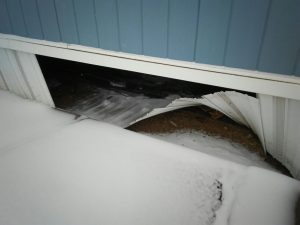 Frozen Water Pipe in a Mobile Home