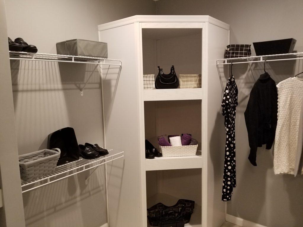reader asked about closet built ins