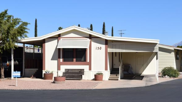 A mobile home for sale in Tucson, Arizona