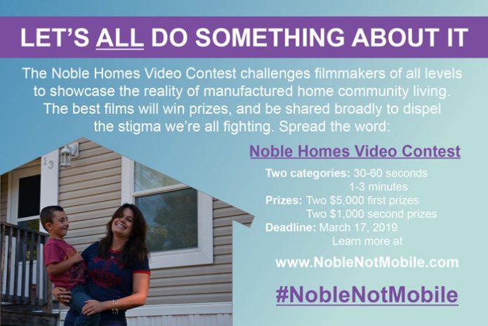 Noble Homes Contest Criteria