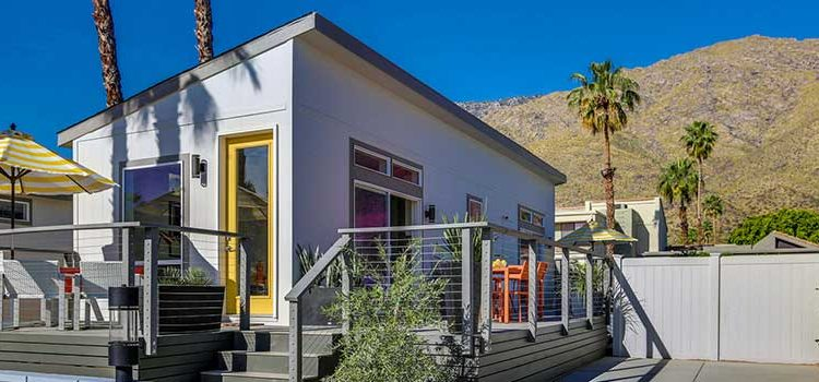 california tiny homes occupy former palm springs mh community. Black Bedroom Furniture Sets. Home Design Ideas