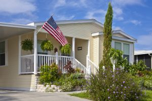 Front of Home with American flag 300x200