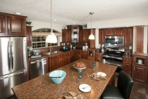 Luxury mobile home kitchen
