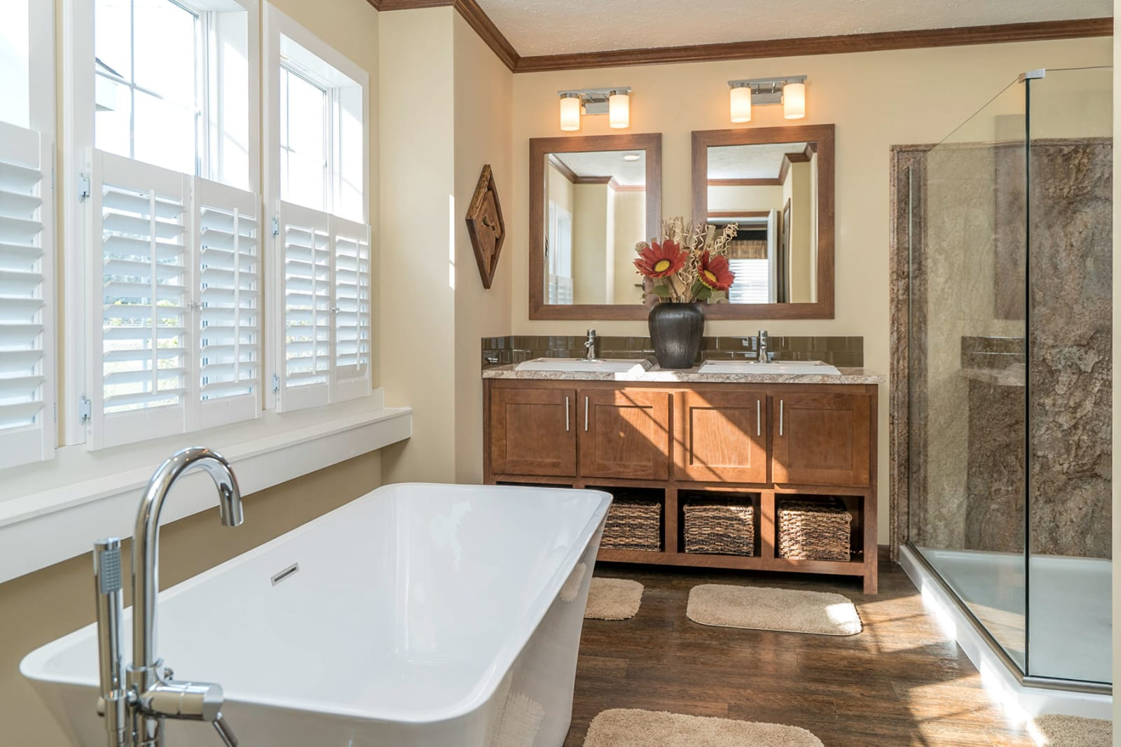 luxury mobile home spa bathroom