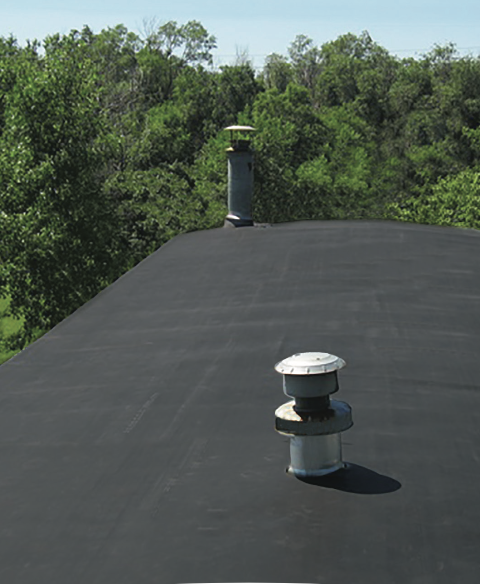 Rubber mobile home roof