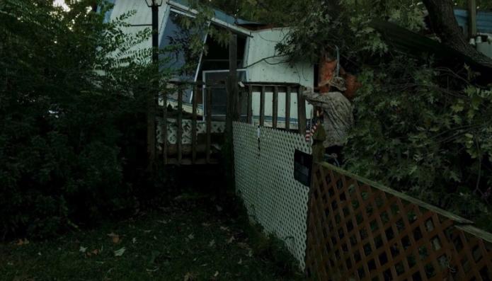 Hurricane Michael topples tree on Virginia Beach mobile home
