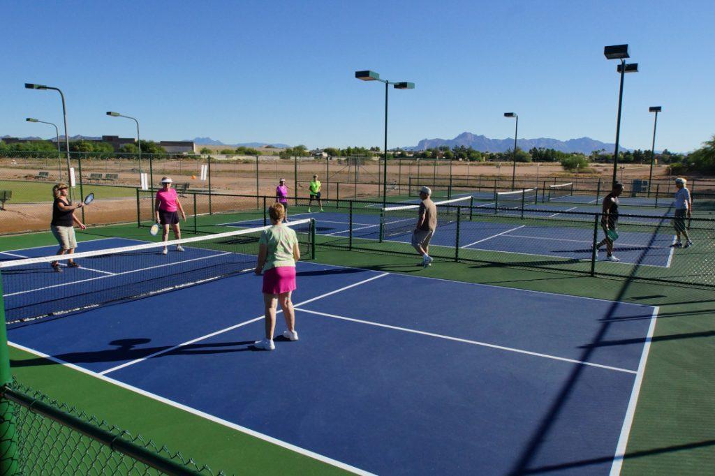 55+ mobile home communities - senior community tennis court