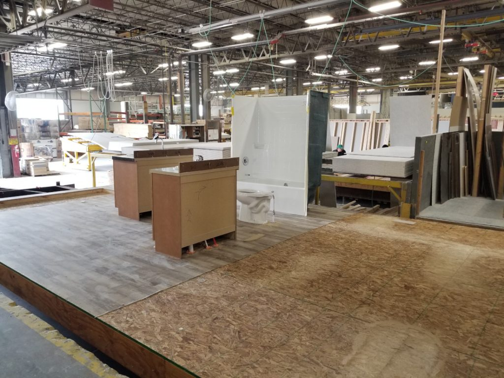 The building process for manufactured homes
