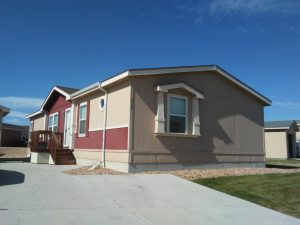 used manufactured home home exterior in a commmunity