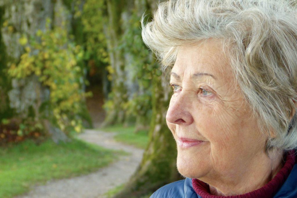 Woman on a trail retirement community