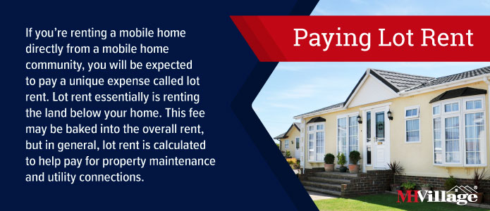 Paying lot rent in a mobile home park
