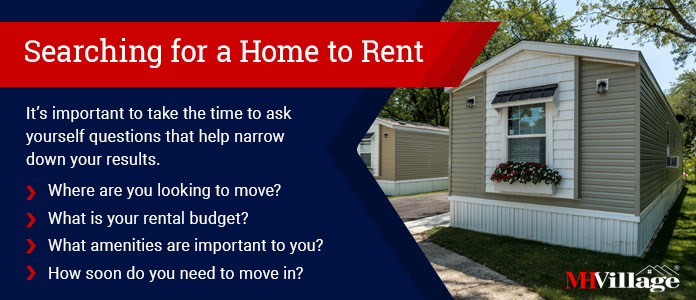 Find manufactured and mobile homes for rent