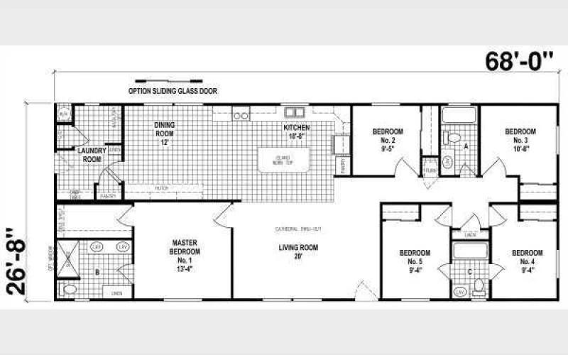 Skyline homes floor plan 5 bedroom