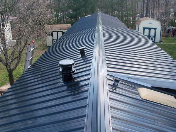 metal roof replacement for a manufactured home