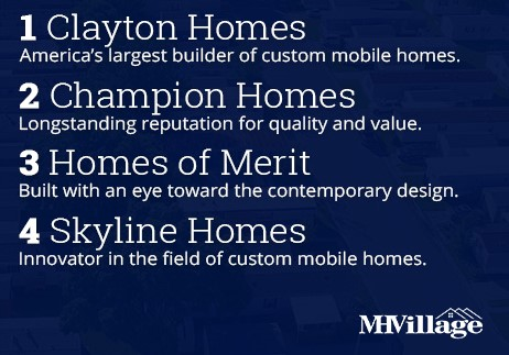 Builders that offer new manufactured homes