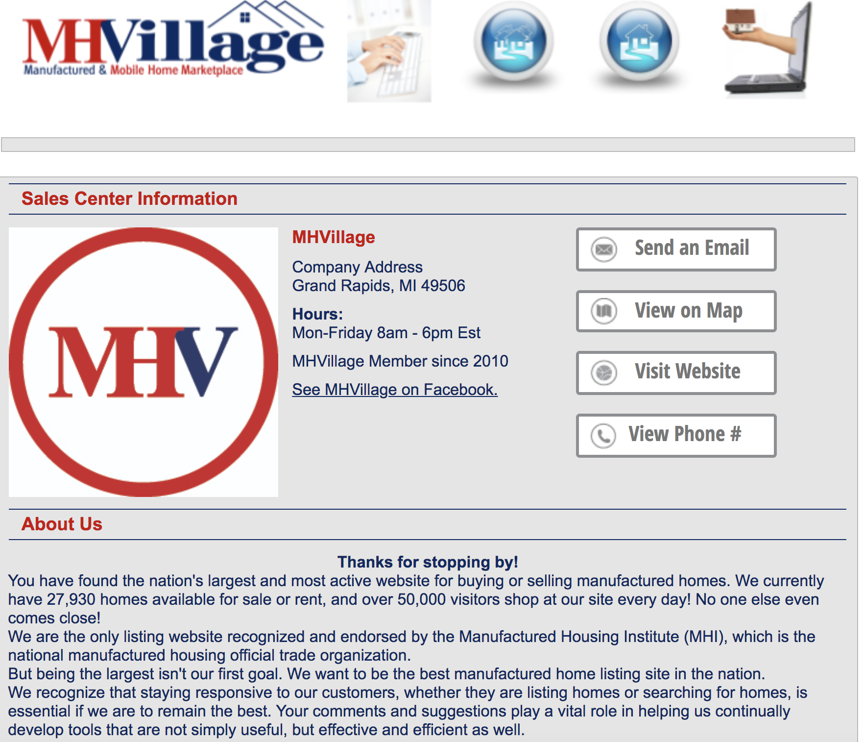 Advertising Your Company on MHV