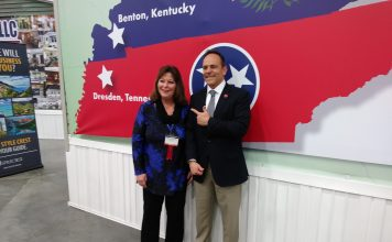 Gov. Matt Bevin with Betty Whittaker