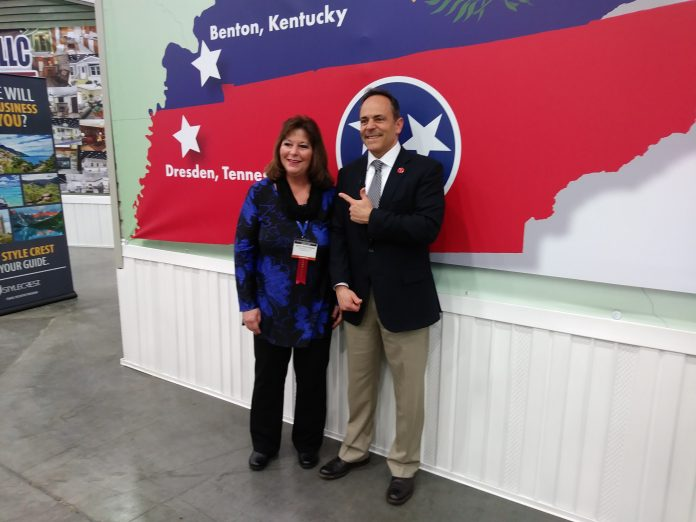 Gov. Matt Bevin with Betty Whittaker