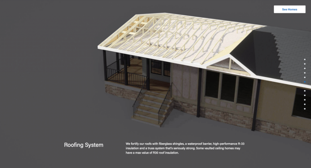 Unbuilt campaign roof trusses