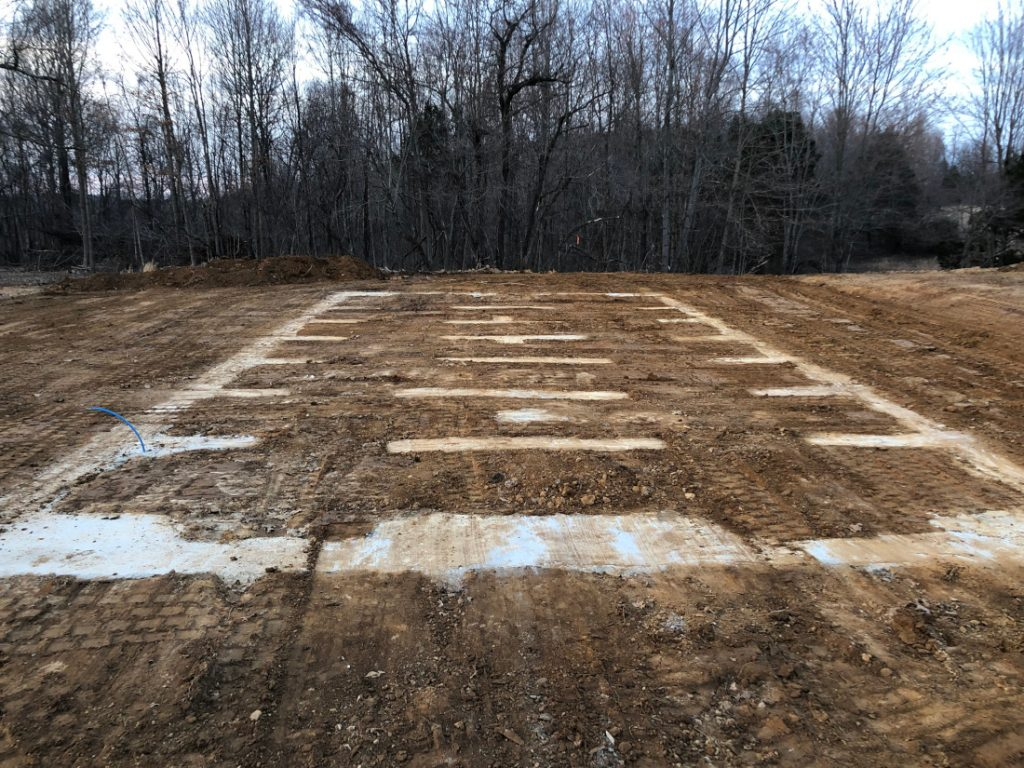Bozz's Excavating laid foundation awaiting home