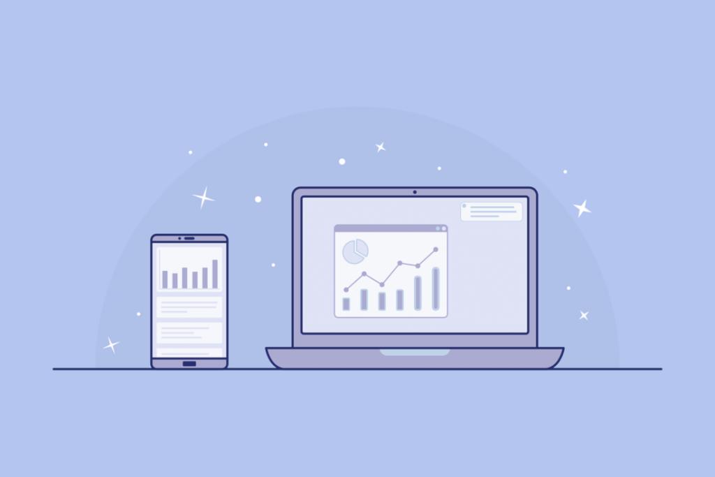 interface web analytics illustration