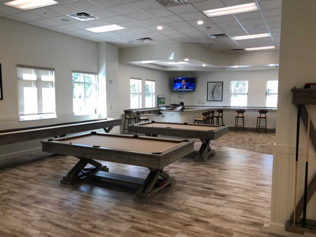 Billiards room manufactured home virtual open house community