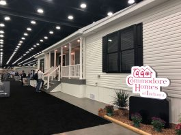 Commodore acquisition Homes new home at trade show
