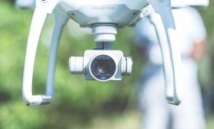 drone mapping white closeup camera