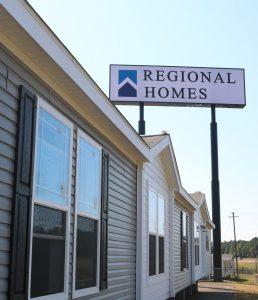 Regional Homes home center sign
