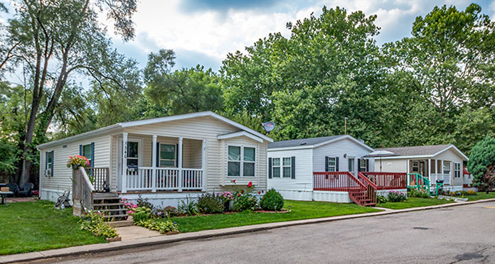mobile home value in a community