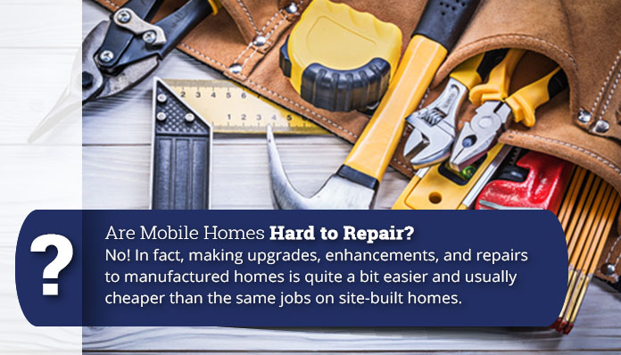 Are mobile homes hard to repair - mobile home maintenance