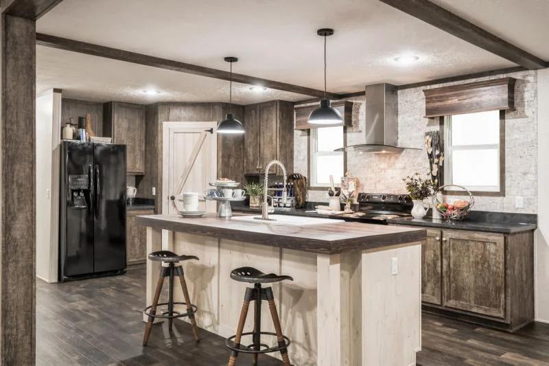 Farmhouse mobile homes kitchen