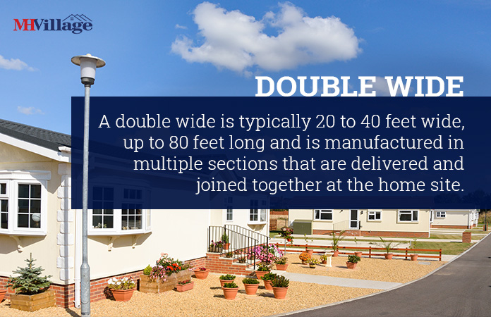 double wide mobile home definition