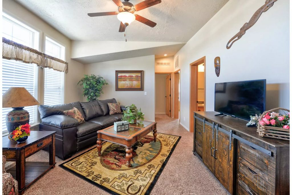 large mobile home living area
