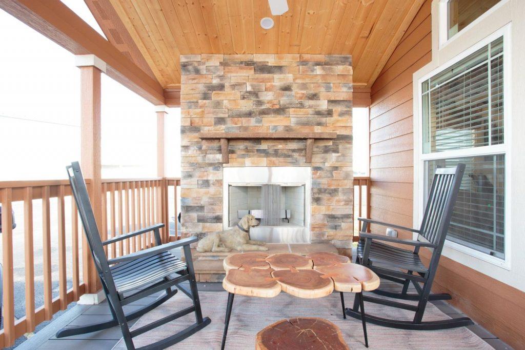Log Cabin Mobile Home Exterior