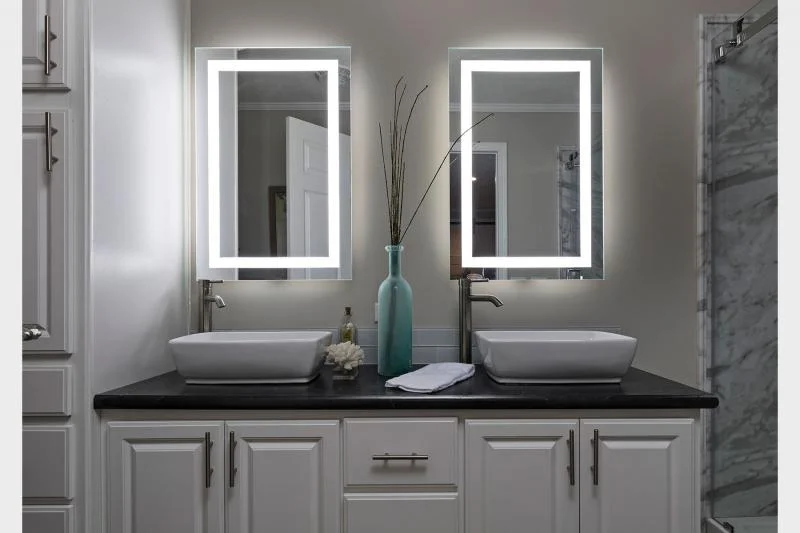 luxury mobile home bathroom