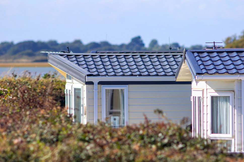 mobile homes in a countrywide setting