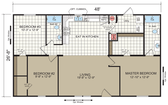 mobile home floor plans and layouts