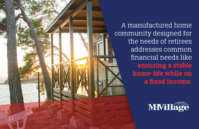 mobile home retirement communities financial benefits