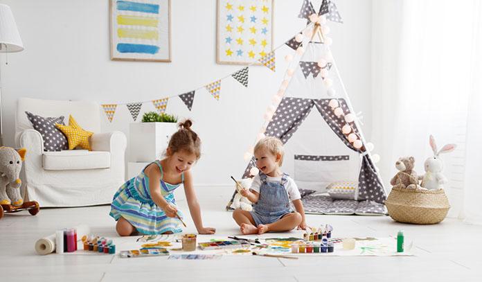 Kids playroom for flex room