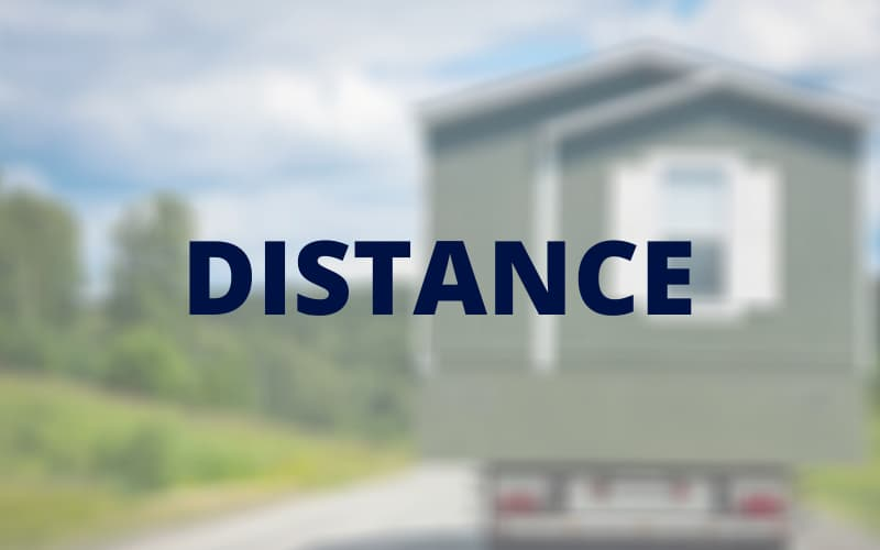 Moving a mobile home long distance